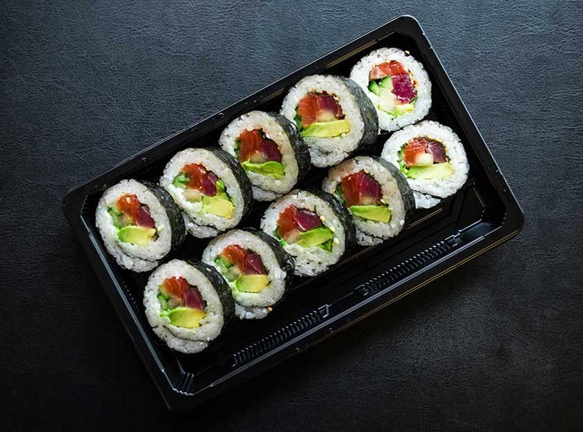 Tuna Salmon Futomaki (Raw Fish)