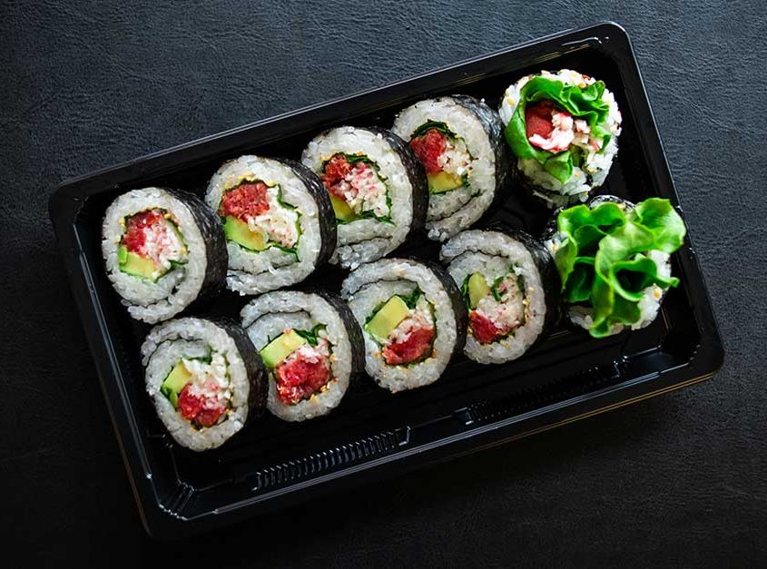 Crab Smoked Salmon Roll (Fully Cooked Fish)